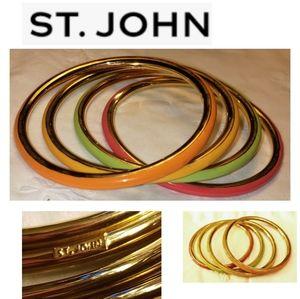 St John Knits Set of 4 Narrow Bangle Bracelets